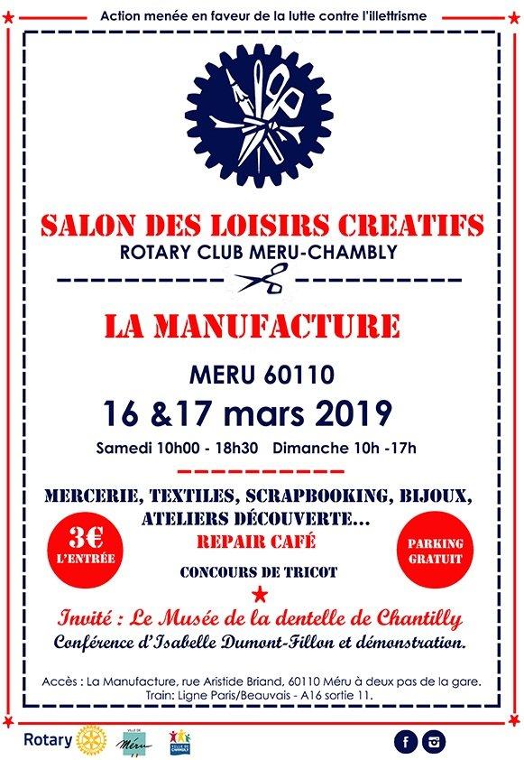 Salon des loisirs créatifs à Méru 16 & 17 mars 2019