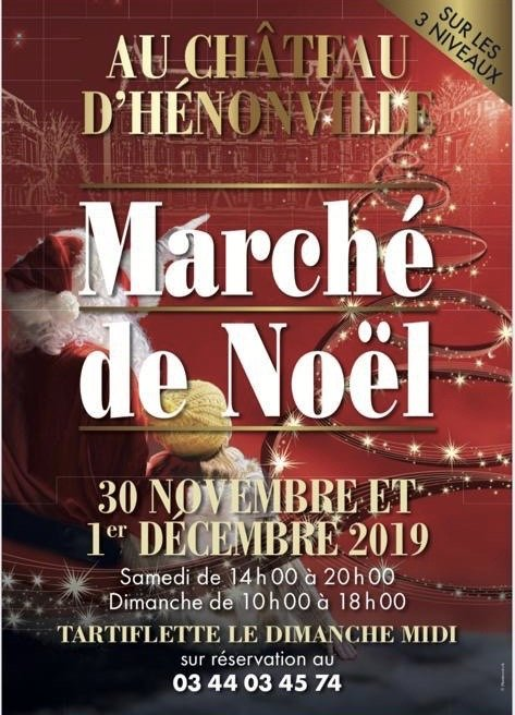 Madame Nacre au marché de Noël du château d'Henonville